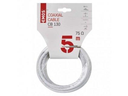 EMOS Koaxiální kabel CB130, 5m S5373