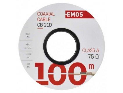 EMOS Koaxiální kabel CB21D, 100m S5271