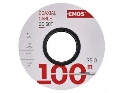 EMOS Koaxiální kabel CB50F, 100m S5131