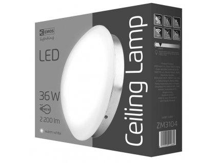 EMOS Lighting LED přisazené svítidlo, kruh stříbrná 36W teplá bílá ZM3104