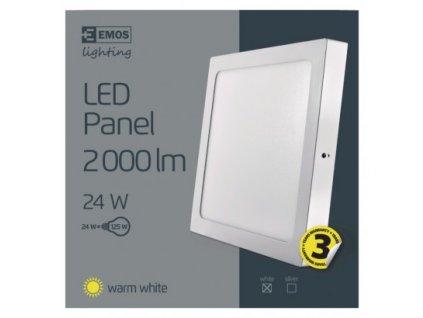 EMOS Lighting LED panel 300×300, čtvercový přisazený bílý, 24W teplá bílá ZM6151