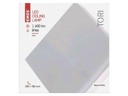 EMOS Lighting LED přisazené svítidlo, čtvercové bílé 24W neutr. b., IP44 ZM4304