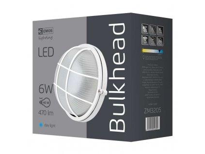EMOS Lighting LED přisazené svítidlo, kruh mřížka 6W denní bílá ZM3205