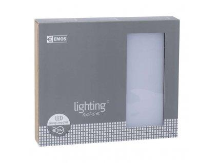 EMOS Lighting LED přisazené svítidlo, čtverec stříbrná 29W teplá bílá stm. ZM1103