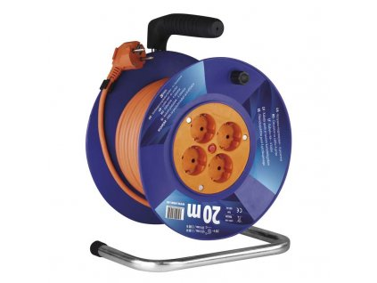 EMOS PVC prodlužovací kabel na bubnu – 4 zásuvky, 20m SCHUKO P09220
