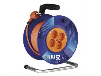 EMOS PVC prodlužovací kabel na bubnu – 4 zás., 25m, 1,5mm2 SCHUKO P09225