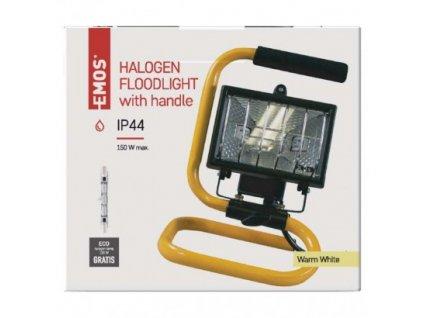 EMOS Lighting Halogenový reflektor 150W černý s držákem G3101