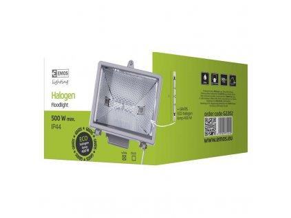 EMOS Lighting Halogenový reflektor 500W bez PIR senzoru bílý G2202