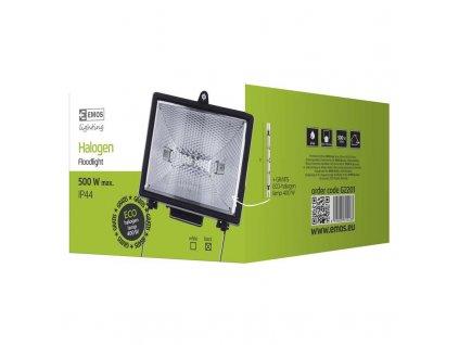 EMOS Lighting Halogenový reflektor 500W bez PIR senzoru černý G2201