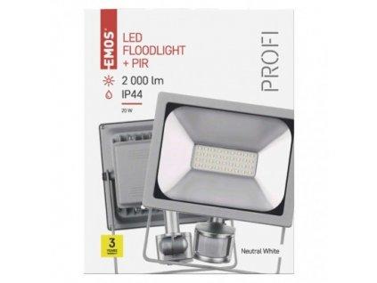 EMOS Lighting LED reflektor PROFI s pohybovým čidlem, 20W neutrální bílá ZS2720