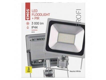 EMOS Lighting LED reflektor PROFI s pohybovým čidlem, 30W neutrální bílá ZS2730