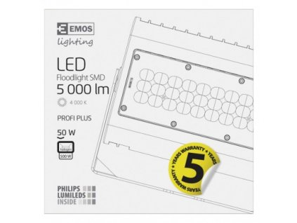 EMOS Lighting LED reflektor PROFI PLUS černý, 50W neutrální bílá ZS2430