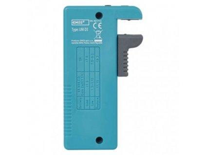 EMOS Univerzální tester baterií (AA, AAA, C, D, 9V, knoflíkových) N0322