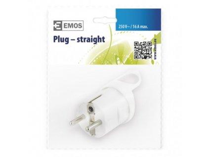 EMOS Vidlice přímá pro prodlužovací kabel, bílá P0038