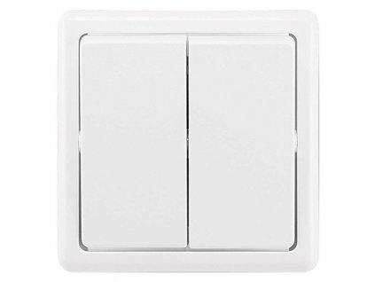 ABB Vypínač CLASSIC dvojitý, jasně bílý 3553-05289 B1 A1245.0