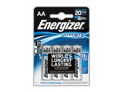 Energizer baterie Ultimate Lithium, AA, FR6/4, 4 ks