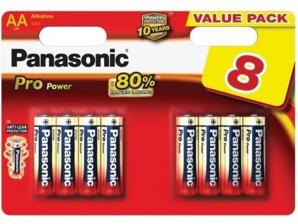 Baterie Panasonic Pro Power Gold AA LR6 8 ks