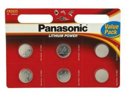 Panasonic Lithiové knoflíkové baterie CR2025 6 ks