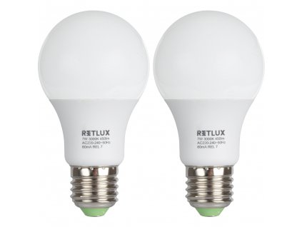 Retlux REL 7 LED A60 2x7W E27  450 lm 3000 K REL 7