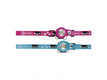 EMOS Dětská LED čelovka Krtek P3529 na 2× CR2032, 8 ks P3529
