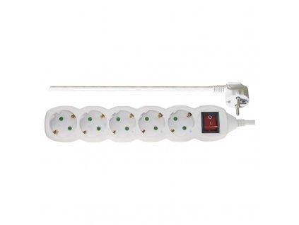 EMOS Prodlužovací kabel SCHUKO s vypínačem – 5 zásuvek, 5m P1525