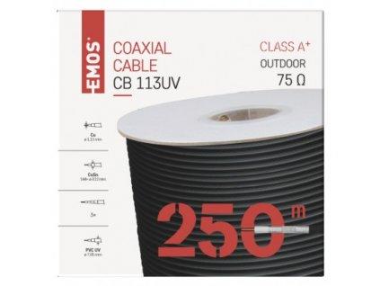 EMOS Koaxiální kabel CB113UV, 250m S5266