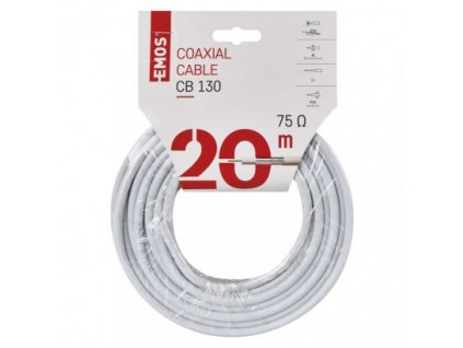 EMOS Koaxiální kabel CB130, 20m S5376