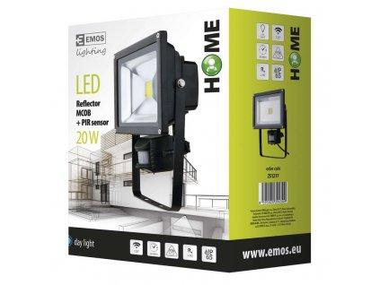 EMOS Lighting LED reflektor HOME MCOB s PIR, 20W denní bílá ZS1217