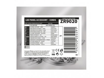 EMOS Lighting 4 lanka pro LED panel 60×60cm ZR9020