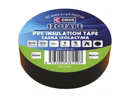EMOS Izolační páska PVC 15mm / 10m černá F615122