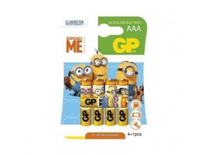 GP Batteries Alkalická baterie GP LR03 (AAA), limit. edice MIMONI B0911M5