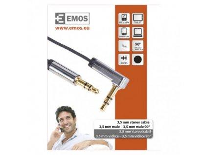 EMOS JACK kabel 3,5mm stereo, vidlice - 3,5mm vidlice 1m SM7031BL