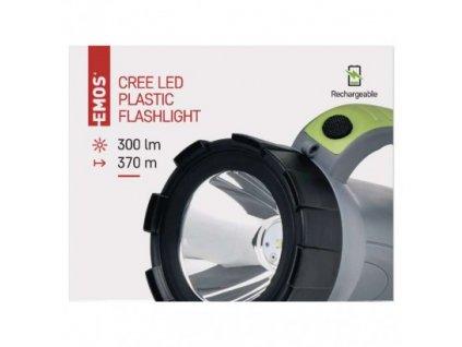 EMOS CREE LED nabíjecí svítilna P4527, 300 lm, 1400 mAh P4527