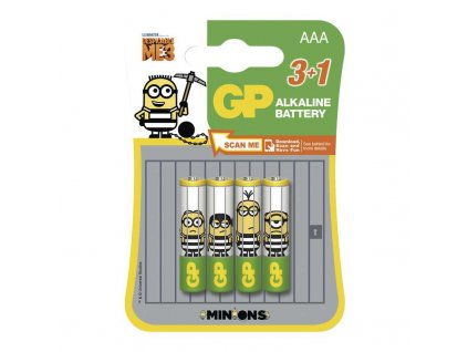 GP Batteries Alkalická baterie GP LR03 (AAA), limit. edice MIMONI B0911M4