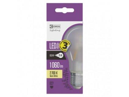 EMOS Lighting LED žárovka Filament matná A60 A++ 8,5W E27 teplá bílá Z74275