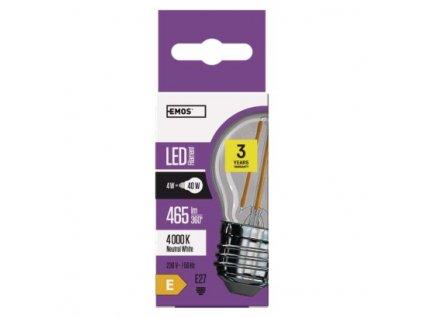 EMOS Lighting LED žárovka Filament Mini Globe A++ 4W E27 neutrální bílá Z74241
