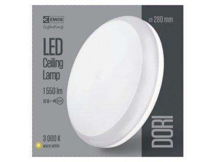 EMOS Lighting LED přisazené svítidlo Dori, kruhové bílé 18W teplá b., IP54 ZM4111
