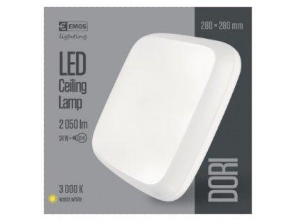 EMOS Lighting LED přisazené svítidlo Dori, čtvercové bílé 24W tepl.b.,IP54 ZM4114