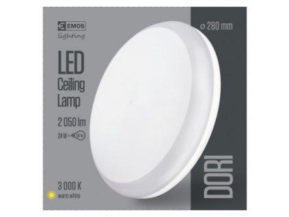 EMOS Lighting LED přisazené svítidlo Dori, kruhové bílé 24W teplá b., IP54 ZM4112
