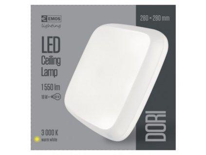 EMOS Lighting LED přisazené svítidlo Dori, čtvercové bílé 18W tepl.b.,IP54 ZM4113