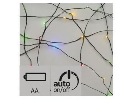 EMOS Lighting LED vánoční nano řetěz, 2× AA, 1,9m, multicolor, časovač ZY1951
