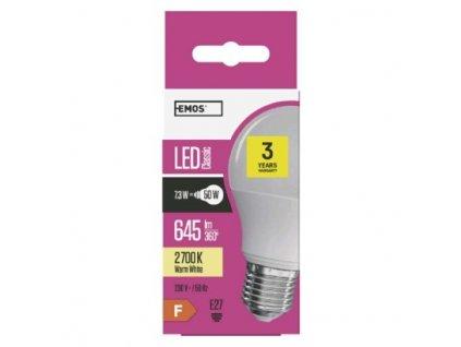 EMOS Lighting LED žárovka Classic A60 8W E27 teplá bílá ZQ5130