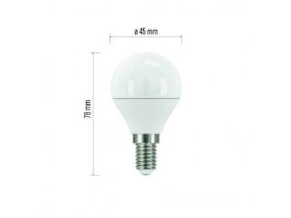 EMOS Lighting LED žárovka Classic Mini Globe 6W E14 teplá bílá ZQ1220