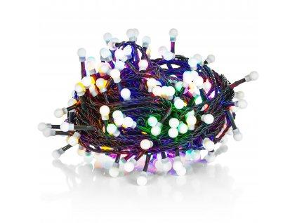 Retlux vánoční řetěz 100 LED 10+5m, barevný, kuličky, IP44, RXL121