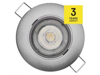 EMOS Lighting LED bodové svítidlo Exclusive stříbrné, kruh 5W teplá bílá ZD3221