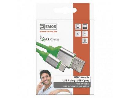 EMOS USB kabel 2.0 A/M - C/M 1m zelený SM7025G
