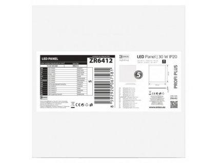 EMOS Lighting LED panel 60×60, čtvercový vestavný bílý, 30W neutr.b., 5 ks ZR6412