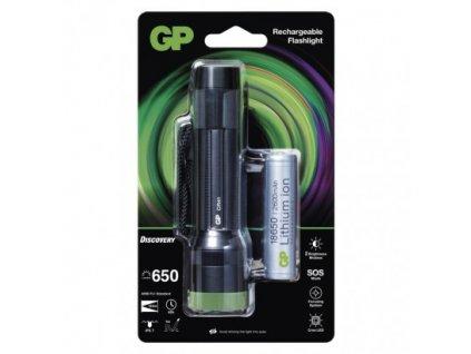LED nabíjecí ruční svítilna GP Discovery CR41, 650 lm