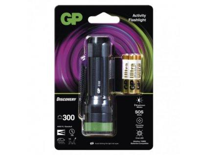 LED ruční svítilna GP Discovery C32, 300 lm