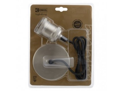 EMOS Lighting Závěsné objímkové svítidlo na žárovku E27, nikl ZC3200